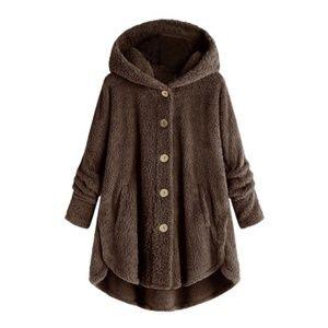 🆕 Oversized Plush Hooded Coat